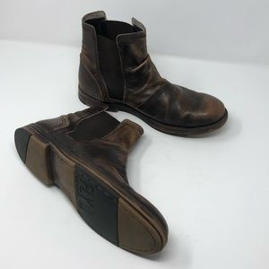Fly London Men's Leather Ankle Boots Size 42 US 9